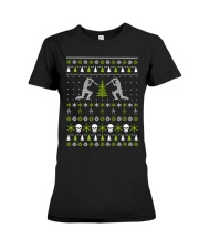 Ugly Christmas cricket Sweater Premium Fit Ladies Tee thumbnail