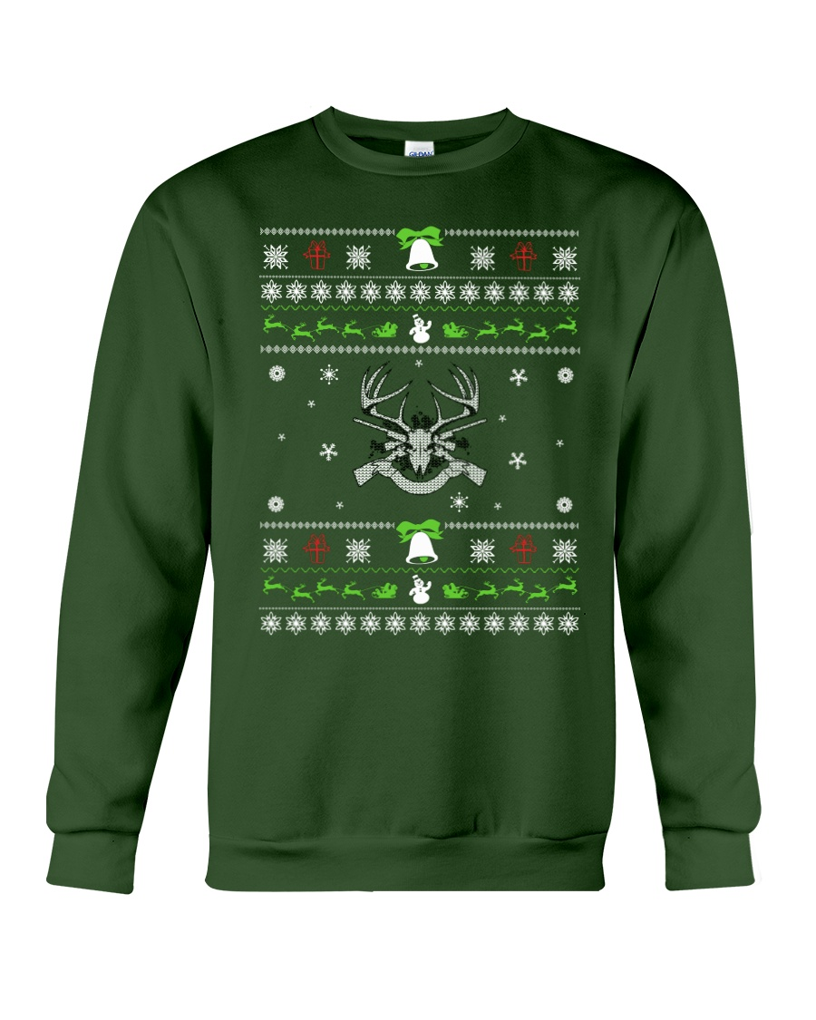 Hunting Ugly Christmas Sweater Crewneck Sweatshirt