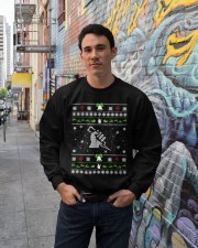 Electrician Ugly Christmas Sweater Crewneck Sweatshirt lifestyle-unisex-sweatshirt-front-2