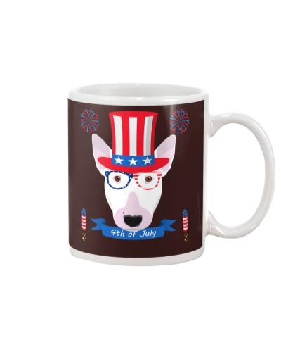 Bull Terrier 4th of July