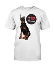 I LOVE DOBERMAN  Classic T-Shirt thumbnail