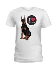 I LOVE DOBERMAN  Ladies T-Shirt thumbnail