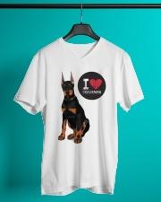 I LOVE DOBERMAN  V-Neck T-Shirt lifestyle-mens-vneck-front-3