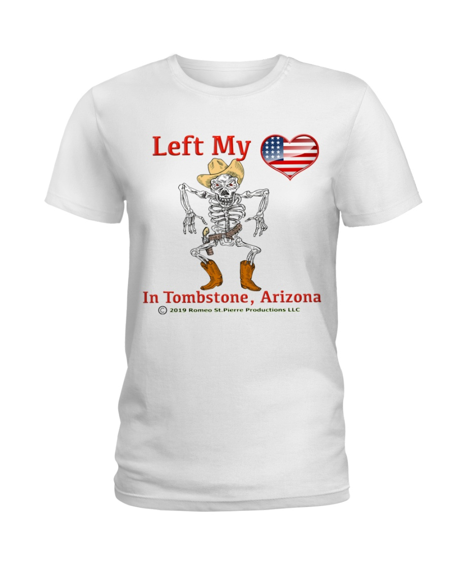 Left My Heart In Tombstone Ladies T-Shirt