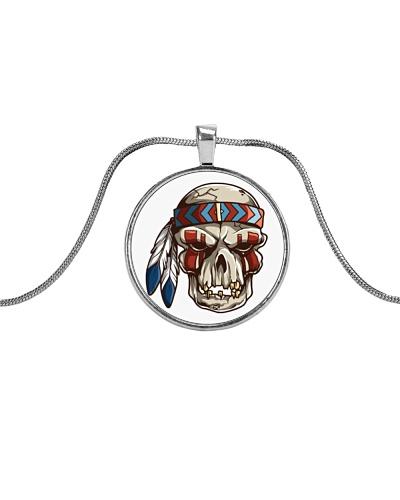 Desert Radio AZ Native Metallic Circle Necklace