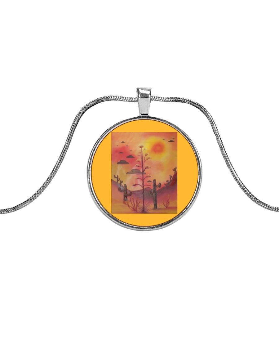 Unidentified Over Arizona Metallic Circle Necklace