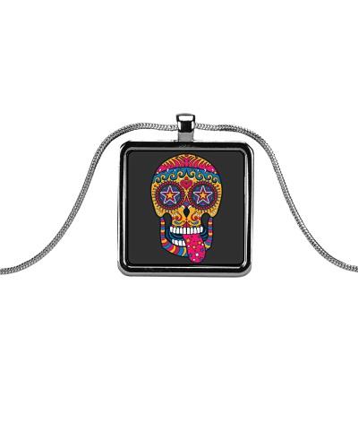Sugar Skull Ear Necklace