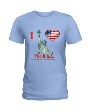 I Love The USA Ladies T-Shirt front