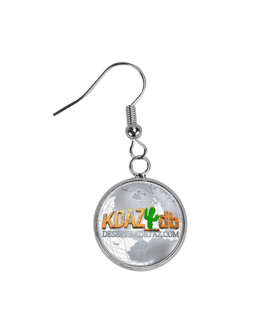 Globe Desert Radio AZ Circle Earrings