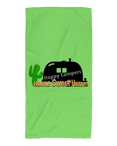 Happy Camper Beach Towel