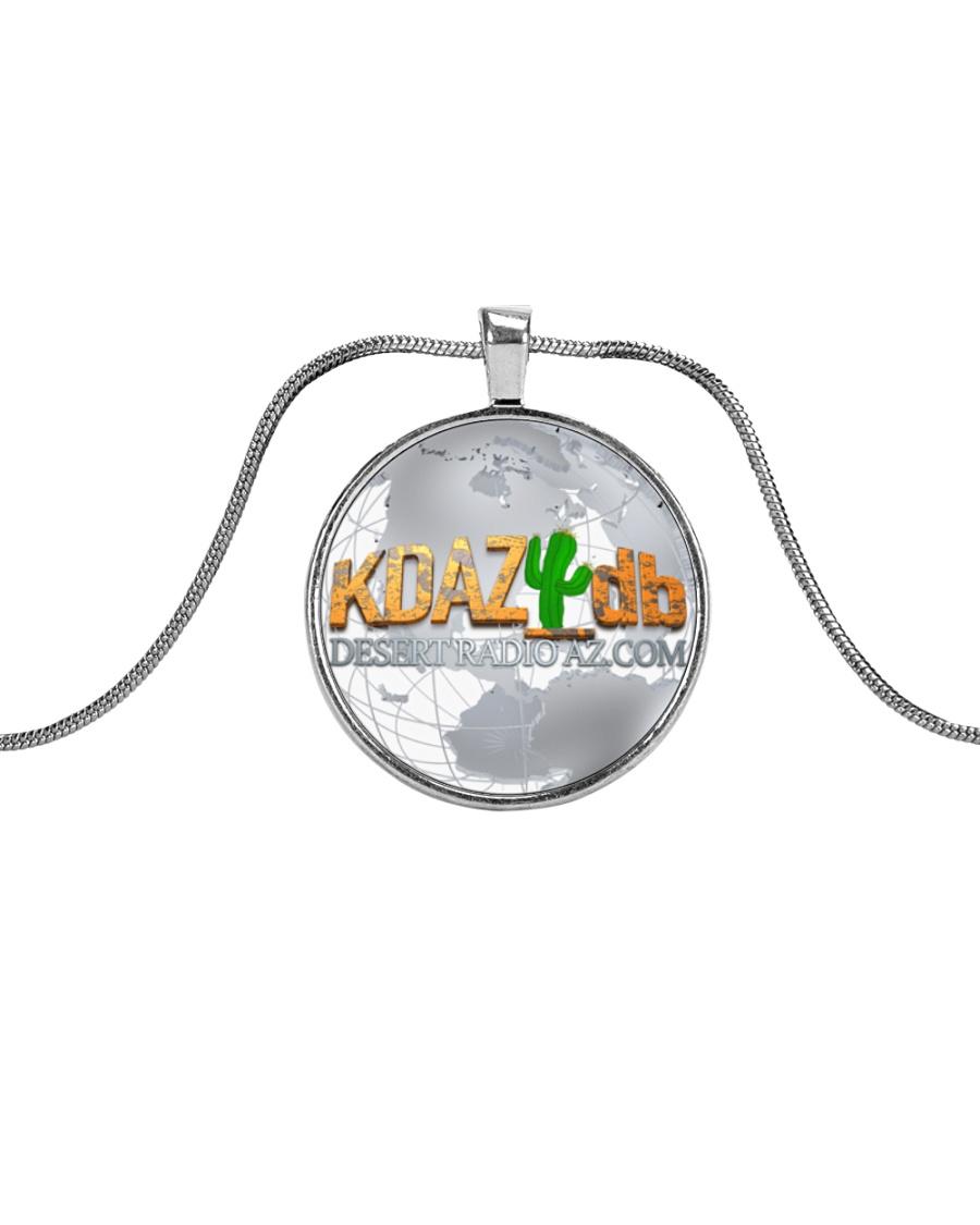 Around The Globe Desert Radio AZ Metallic Circle Necklace