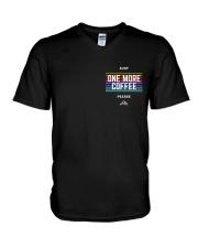 One More Coffee V-Neck T-Shirt thumbnail