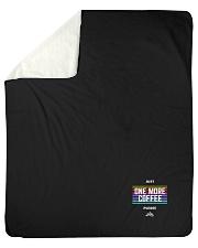 "One More Coffee Sherpa Fleece Blanket - 50"" x 60"" thumbnail"