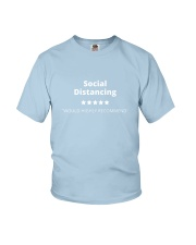 Social Distancing - 5 stars Youth T-Shirt tile