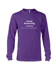 Social Distancing - 5 stars Long Sleeve Tee tile