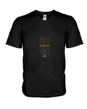 Coffee Life  V-Neck T-Shirt thumbnail