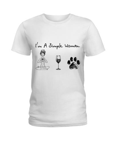 Yoga - Wine - Dog paw