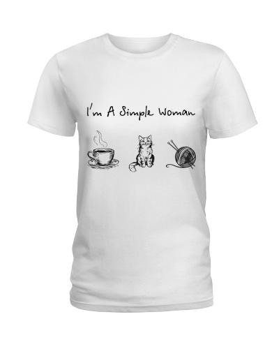 Coffee Tea - Cat - Knitting
