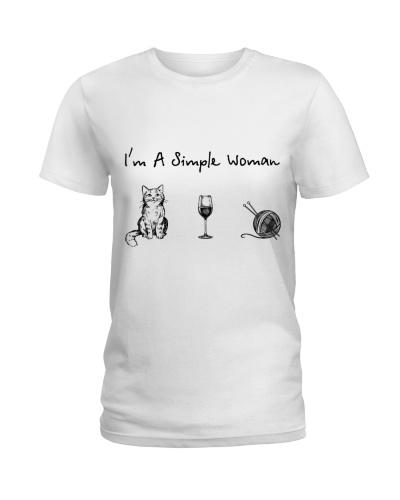 Cat - Wine - Knitting