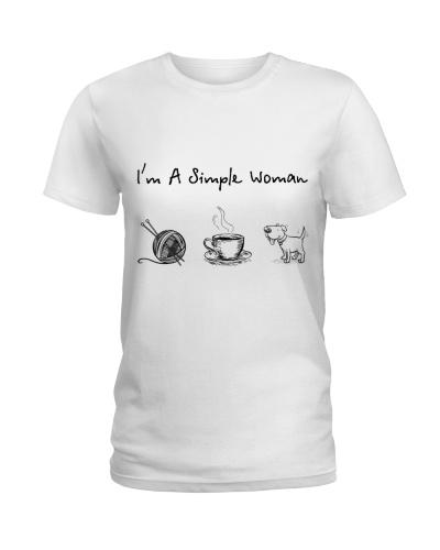 Knitting - Coffee Tea - Dog