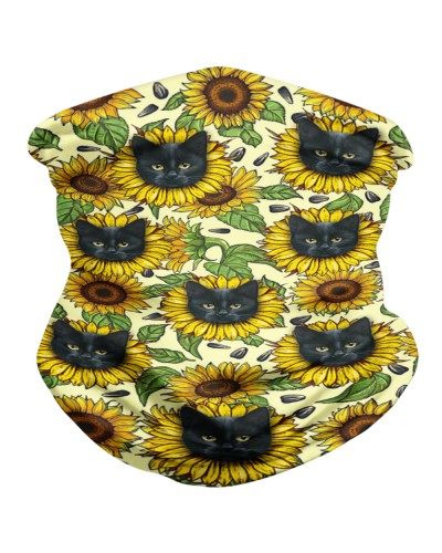 Cute sunflower Cat - Black Cat