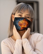 Basketball ball in Fire and Water Cloth Face Mask - 3 Pack aos-face-mask-lifestyle-17