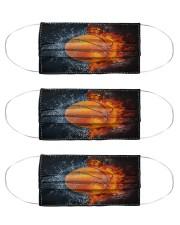 Basketball ball in Fire and Water Cloth Face Mask - 3 Pack front