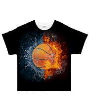 Basketball ball in Fire and Water All-over T-Shirt thumbnail