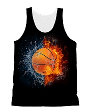 Basketball ball in Fire and Water All-over Unisex Tank thumbnail