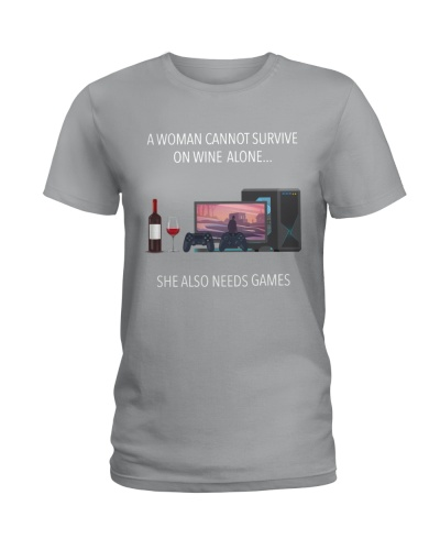 Wine - Games - A woman cannot survive on wine