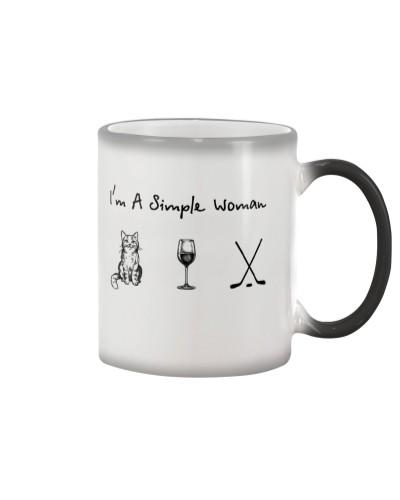Cat - Wine - Hockey