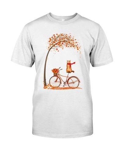 Autumn cat bicycle