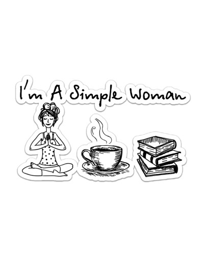 Yoga - Coffee Tea - Book - I'm A Simple Woman