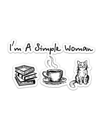 Book - Coffee Tea - Cat - I'm A Simple Woman