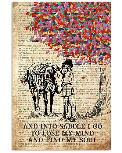 Horse And Into The Saddle I Go Poster