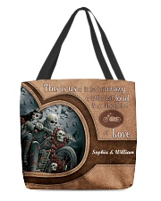 Motorcycle This Is Us A Liitle Bit Crazy All-over Tote front