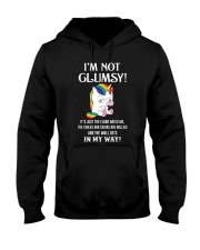 I'm Not Not Clumsy Unicorn Hooded Sweatshirt front