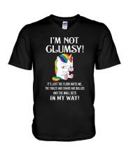 I'm Not Not Clumsy Unicorn V-Neck T-Shirt thumbnail