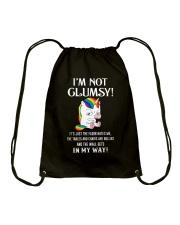 I'm Not Not Clumsy Unicorn Drawstring Bag thumbnail