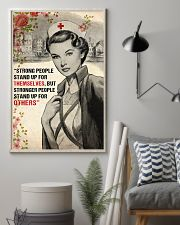 Nurse Strong People Stand Up 11x17 Poster lifestyle-poster-1