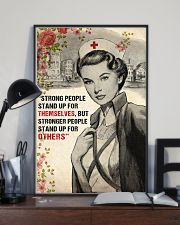 Nurse Strong People Stand Up 11x17 Poster lifestyle-poster-2