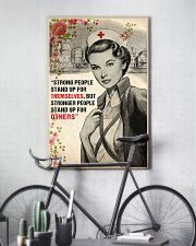 Nurse Strong People Stand Up 11x17 Poster lifestyle-poster-7