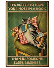 Cat It's Better To Have Your Nose In A Book Poster 11x17 Poster front