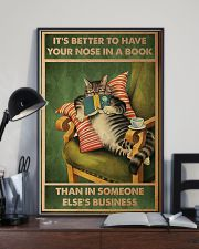 Cat It's Better To Have Your Nose In A Book Poster 11x17 Poster lifestyle-poster-2
