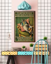 Cat It's Better To Have Your Nose In A Book Poster 11x17 Poster lifestyle-poster-6