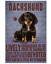 Dachshund Lively Courageous Black 11x17 Poster front