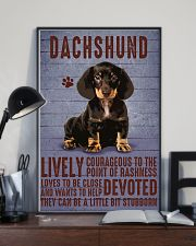 Dachshund Lively Courageous Black 11x17 Poster lifestyle-poster-2