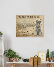 SCHNAUZER WAITING AT THE DOOR SCHNAUZER 20x16 Gallery Wrapped Canvas Prints aos-canvas-pgw-20x16-lifestyle-front-03