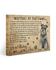 SCHNAUZER WAITING AT THE DOOR SCHNAUZER 20x16 Gallery Wrapped Canvas Prints front