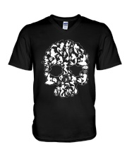 Mermaid skull V-Neck T-Shirt thumbnail
